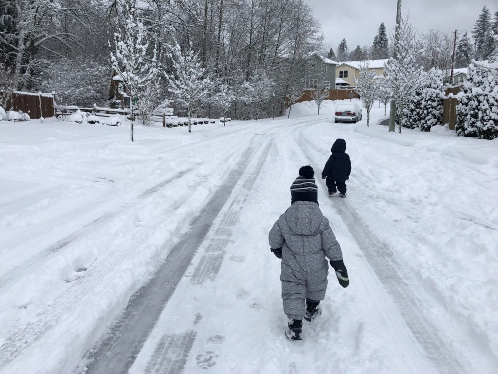 snohomish children snow road safety