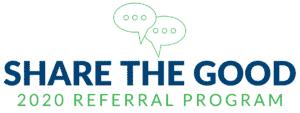2020 McClain Insurance Share the Good Referral Program Logo