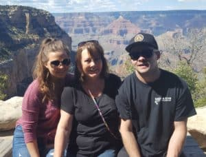 Kendall, Mary and Grant at Grand Canyon