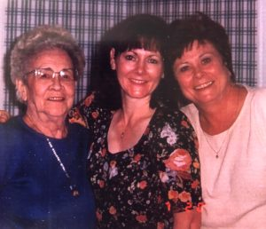 Mary Fisher with her mom and sister