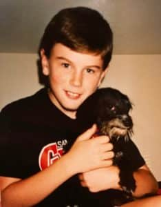 Nick with Moses dog