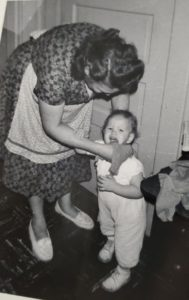Dova Smith with her grandmother