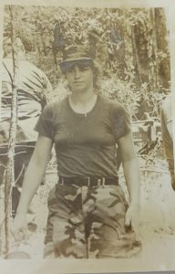 Dova Smith in the Army