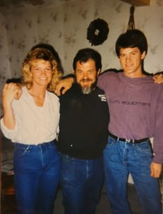 Dova Smith with her dad and brother