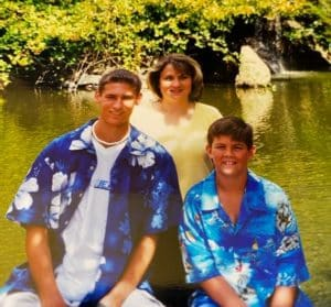 Laura Paradis and her sons